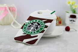 starbucks para iphone Rebajas 3D Starbucks Coffee Soft Silicone Rubber Bumper Gel Cubierta a prueba de golpes para iphone X 8 7 6 6S Plus 5S Samsung S6 7 8 9 Plus