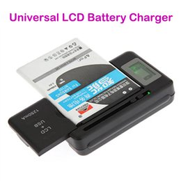 Wholesale universal battery charger cell phone - Intelligent Indicator Digital LCD Universal Cell Phone Home Dock Battery Charger With USB Port for Samsung Galaxy S4 S5 S6 LG HTC Mobile