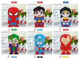 Wholesale S3 Captain America - 3D CARTOON Minions Despicable Me Superman Captain America Duck Silicone Case for iPhone 4S 5S 6 6S Plus Galaxy S3 S4 S5 S6