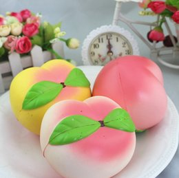 Wholesale Fragrance Scent - Pink Peach Squishy Fragrance Jumbo kawaii Scented Squishies Slow Rising Toys Anti Stress kawaii Decoration Squishy Phone Strap Free Shipping