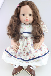 "Wholesale Girl Silicone Mannequin - 28"" 70CM silicone reborn babies  girl toddler dolls strong rooted hair baby mannequins best gifts for girls toys"