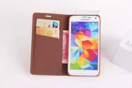 Wholesale Luxury Phone Case Cover S4 - Luxury PU Leather Case For Samsung S4 S5 NOTE2 3 iphone 4 4s 5 5s Cashmere grain Flip Stand Wallet Cover with Card Holder Phone bag case