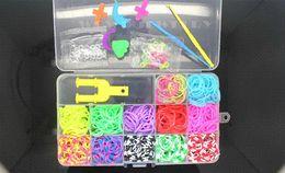 Wholesale Cheap Rubber Band Loom Kit - Super Cheap 1200pcs 12color Set Colorful Rubber Loom Bands Kit Kids BOX ! DIY Charm Bracelet !Powerful Gift!Free Shipping!