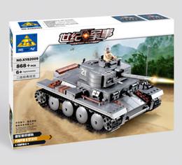 Wholesale Century Military - No original box Building Blocks 82009 868 pcs DIY Block Century Military PZKPFW-II tanks toy for boy Educational Bricks Toys