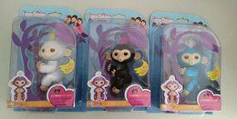 Wholesale Wholesale Hot Monkey - Toy Gift Fingerling Interactive Baby Monkey Finger Squirrel 2018 Hot Fingerling Monkey Pet Toys Colors Kids Gifts Fingers Monkeys Christmas
