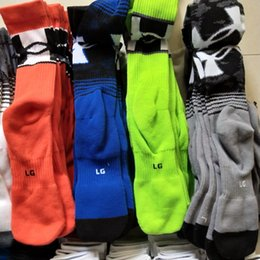 Wholesale Sports Cotton Socks Brands - Brand UA Men Women Long Socks Under Breathable Long Knee Cotton Socks Aromour Basketball Football Skateboard Hip-hop Sports Stocking Best