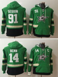 Wholesale Red Star Hoody - Cheap 2017 Dallas Stars Mens Hoody Jerseys 14 Jamie Benn 91 Tyler Seguin Hoodies Ice Hockey Stitched Green