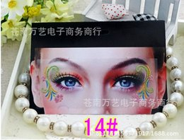 Wholesale Color Eye Stickers - Wholesale-2015 New fashion eye buccal sticker double eye decal face decal face free shipping 20 pieces lot eye canthus color sticker