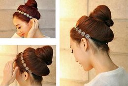 Wholesale Fabric Roses Pattern - Hot Sale Hollow Out Rose Pattern Headbands Korean Fashion Hair Jewelry Alloy Hair Band
