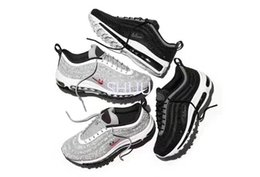 Wholesale Rubber Black Diamond - Limited Air 97 LX Crystal Diamond Running Shoes For Women Men 2017New Arrival 97 OG Black White X-A-M Sneakers Sport Shoe Eur 36-46