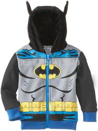 Wholesale Zipper Hoodie Sweaters Wholesale - 2015 New Spring Boys Clothing Classic Models Hoodies Sweater Zipper Jacket Kids Batman Coats Children Clothes