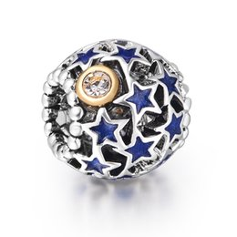 Wholesale Metal Crimps - Fashion Pink Crystals Unique Crimp 925 Sterling Silver European Clip Bead Charms For 2014 New DIY Snake pandora Bracelet Bangle Jewelry1