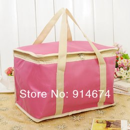 Wholesale Large Cooler Ice Packs - Wholesale-Free shipping supply special new large portable outdoor ice pack cooler bag picnic bag lunch bag wholesale 2pc set