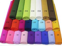 Envoltórios do ramalhete on-line-50 cm x 2.5 m Roll-up bainha papel crepê prontpage papel de embrulho de flores dos desenhos animados flores buquê de papel de embalagem