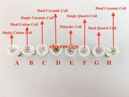 mikro-doppelspule Rabatt Dual Wax Coil Dual Quarz ceraic Baumwolle Spule für Glas Globus Zerstäuber Keramik Wachs Spule für Glas Birne Mikro Tank