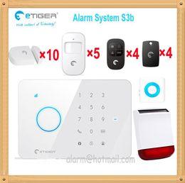 Wholesale Intrusion Detector - 433MHZ signal GSM SMS Home Burglar Security Alarm System Passive infrared intrusion Detector Gap Sensor Solar power alarm