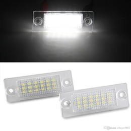 Wholesale Vw Plate Light - 2 x White 18 LED 3528 SMD License Plate Lights Lamps Bulbs for VW Caddy 04