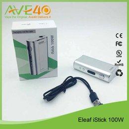 Wholesale Electric Cigarettes Mods - Authentic Eleaf iStick 100W Dual 18650 VV VW electric cigarettes Mod VS Joyetech CUBOID 150W TC MOD with CUBIS Kit
