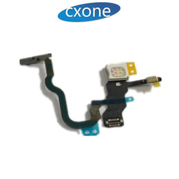 Wholesale Iphone Off - Brand New For iPhone 8 X iPhoneX Power On Off Button Switch Flash Flex Cable Replacement part Best Quality with Free Shipping