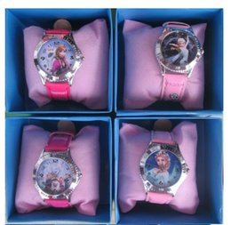 Wholesale Girls Candy Color Belt - frozen watch kids fashion anna elsa watch gift quartz cartoon Jelly Candy led with box Cute Lovely Girl woman lady Kids birthday gift