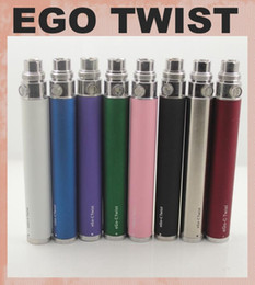 Wholesale Ecig Twist Variable Voltage Battery - 2014 Hottest eGo Twist ecig Variable Voltage ecig ego-c twist battery 650 900 1100 1300mah Variable Voltage 3.2-4.8V dc011