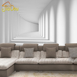 Wholesale Abstract Photo Art - Wholesale- Home Improvement Custom 3D Photo Wallpaper Modern Abstract Passway Art Mural Living Room Sofa Background Wall Papers Home Decor
