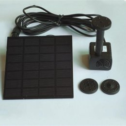 Wholesale Solar Power For Garden Pumps - Mini Solar Water Pump Miniature Float Fountain For Suspension Power Panel Kit Fountain Pool Garden Pond Submersible Watering 30yg C