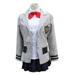 Wholesale Tokyo Dresses - Hot Sales! Anime Tokyo Ghoul Toka Kirishima Touka Cosplay School Uniform Full Set Halloween Costumes Women's Dress Free Shipping