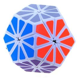 Wholesale Qj Megaminx - Wholesale-Free Shipping QJ 12 color Pyraminx Crystal Megaminx Magic Cube White
