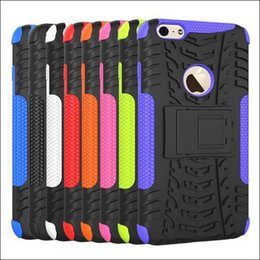 Wholesale Iphone S Cell - hybrid kickstand case for iphone 6S i6 S cell phone case dazzle case 2in1 tpu + pc case