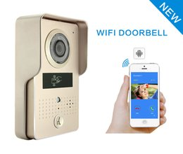 Wholesale Outdoor Intercom Phone - IP Wifi Video Door phone Bell Home Security Camera Wireless Video intercom via Mobile smart phone Control Unlock Record Take Photo FRID Card