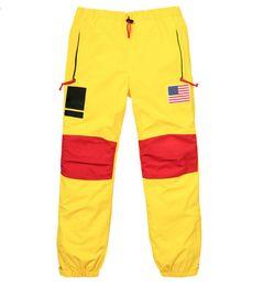 Bandiere per donne online-17ss BOX LOGO Flag Punch Pants Uomo Donna Pantaloni Moda Gore Tex Pant Top Quality S ~ XL HFKZ002