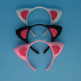 Wholesale Cartoon Head Costume - Halloween Party Costume Cartoon Animal Cat Ear Headband Head Wear Party Cosplay Kids Hair Accessories Gift