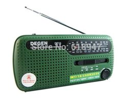Wholesale Emergency Radio Degen - Wholesale-free shipping DEGEN DE13 FM AM SW Crank Dynamo Solar Power Emergency Radio A0798A World Receiver