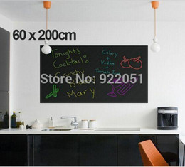 Wholesale Art Drawing Boards - 60x200cm Chalk Board Blackboard Stickers Removable Vinyl Draw Decor Mural Decals Art Chalkboard Wall Sticker For Kids Rooms