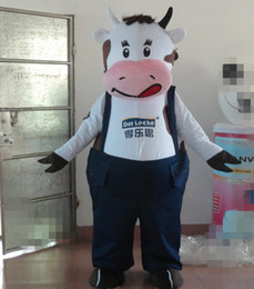 Wholesale Cow Costumes For Sale - 100% real photo of Good vision milk cow mascot costume for adult to wear for sale