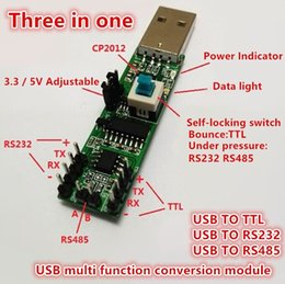 Wholesale Rs232 Serial Cables - Three in one Serial port module USB TO RS232 TTL RS485 USB Serial port module CP2102 freeshippng