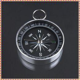 Al por mayor-2pcs 44 mm de diámetro Mini aluminio que acampa brújula senderismo excursionista navegación nuevo envío gratis desde fabricantes