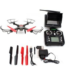 Wholesale Monitor Hd Fpv - Wholesale NEW JJRC V686 5.8G FPV Headless Mode RC Helicopter Quadcopter with HD Camera Monitor
