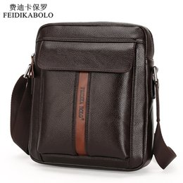 Wholesale Travel Hand Bags - Vintage Men Messenger Bags High Quality Soft Pu Leather Solid Hand Bags Large Capacity Travel Men Bags Dollar Price Handsome Man
