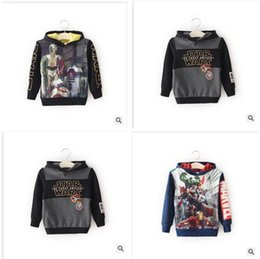 Wholesale Children S Character Hoodies - 3 Styles Star Wars Children Darth Vader Hoodies and Sweatshirts baby clothes star wars Christmas Gift children s clothing Dhgate Newest