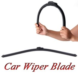 Wholesale Audi Windscreen - Hot Sale Universal U-type Soft Frameless Bracketless Rubber Car Wiper Blade Windshield Windscreen With all Size for choose free