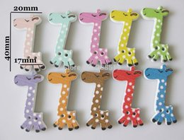 """Wholesale Giraffe Wooden Buttons - WB0162 Baby shirt button 1500pcs randomly Giraffe shape 4 5""""*8 5"""" Mixed wooden buttons for scrapbooking"""