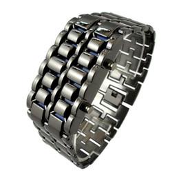 наземная крейсерская камера Скидка автомобиль IMC Оптовая новый практический Лава стиль Железный самурай черный браслет синий светодиодные часы с коробкой порядка$18no трек