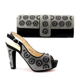 Wholesale Italian Fashion Free Shipping - High Quality Fashion Italian High Heels 11CM Shoes and Bag Set New Summer Style Shoes and Bag Set For Wedding Party Free Shipping TX-1070