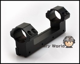 Wholesale Double Ring Rifle Scope Mount - Flashlight Laser Rifle Scope High Double Mount V2 -11mm Rail-25mm Ring Weaver Scope Torch Rail Mount Free Shipping order<$18no track