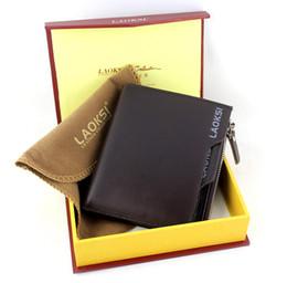 Wholesale Design Order Bag - Coin Bag Zipper 2015 Men's Famous Brand Genuine Leather Mens Male Money Purses Wallets New Design Top Card Holder order<$18no track