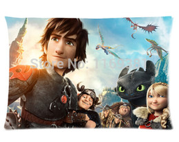 "Wholesale Train Pillows - Custom Paradise How To Train Your Dragon Carton Custom Rectangle Pillow Case 20""x30"""
