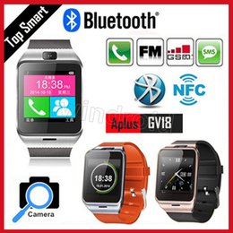 Wholesale Unlock Andriod - GV18 Aplus Smart Watch Phone with Camera NFC Unlocked Micro SIM card Slot Quad Band Bluetooth Gear 2 For Andriod Phone SAMSUNG Free shipping