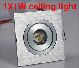 Wholesale Free Kitchen Cabinet - Free shipping 1*1W led downlight square led lamp epistar chip high power led indoor cabinet light 110-220V